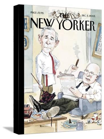 The New Yorker Cover - December 5, 2005-Barry Blitt-Stretched Canvas Print