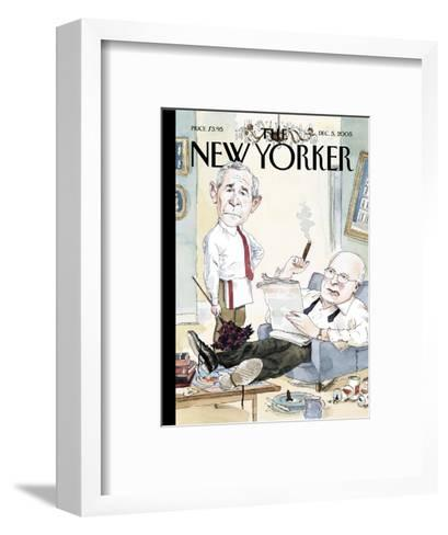 The New Yorker Cover - December 5, 2005-Barry Blitt-Framed Art Print