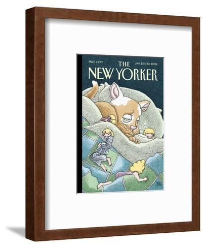 The New Yorker Cover - January 23, 2006-Gahan Wilson-Framed Art Print