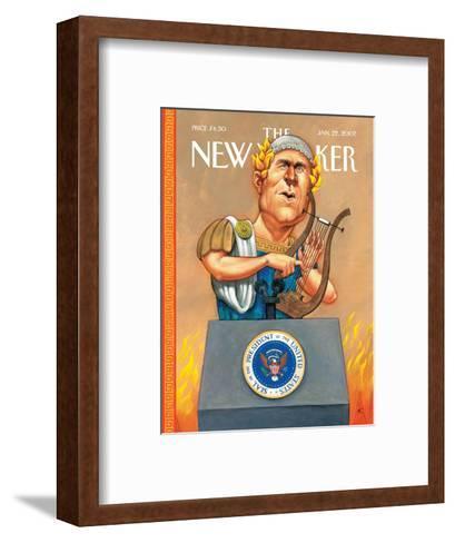 The New Yorker Cover - January 22, 2007-Anita Kunz-Framed Art Print