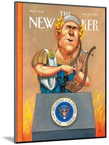 The New Yorker Cover - January 22, 2007-Anita Kunz-Mounted Premium Giclee Print