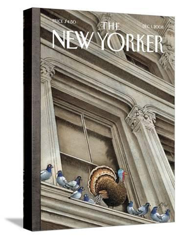 The New Yorker Cover - December 1, 2008-Harry Bliss-Stretched Canvas Print