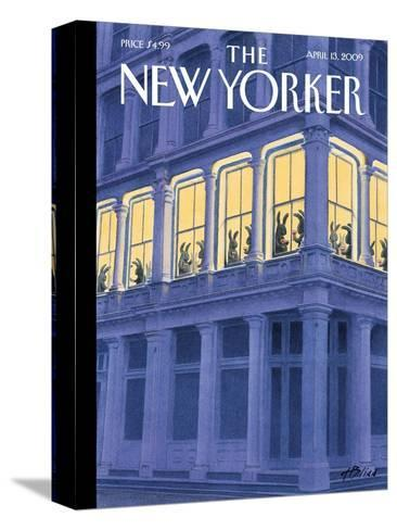 The New Yorker Cover - April 13, 2009-Harry Bliss-Stretched Canvas Print