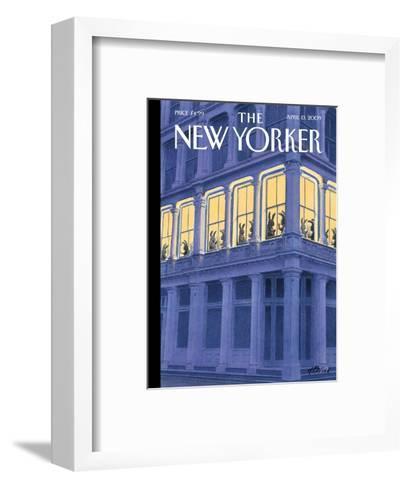 The New Yorker Cover - April 13, 2009-Harry Bliss-Framed Art Print
