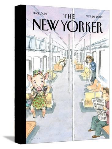 The New Yorker Cover - October 26, 2009-John Cuneo-Stretched Canvas Print