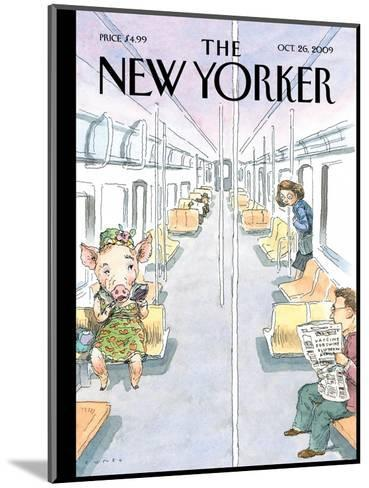 The New Yorker Cover - October 26, 2009-John Cuneo-Mounted Premium Giclee Print