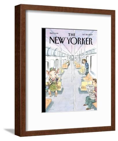 The New Yorker Cover - October 26, 2009-John Cuneo-Framed Art Print