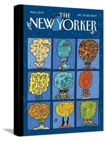 The New Yorker Cover - December 21, 2009-Mariscal-Stretched Canvas Print
