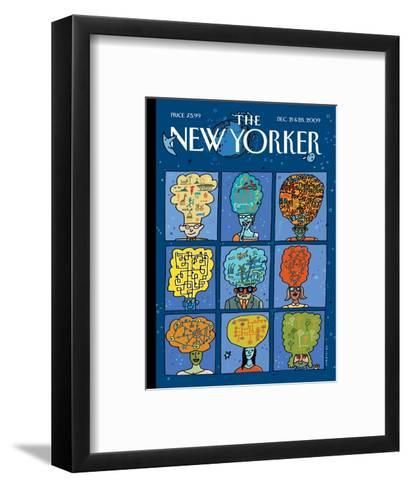 The New Yorker Cover - December 21, 2009-Mariscal-Framed Art Print