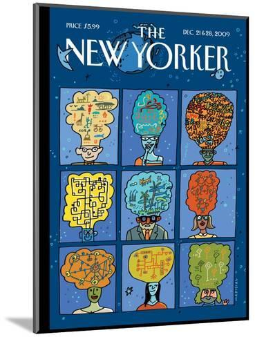 The New Yorker Cover - December 21, 2009-Mariscal-Mounted Premium Giclee Print