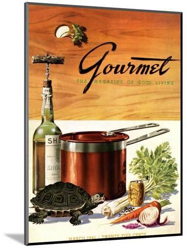 Gourmet Cover - March 1941-Henry Stahlhut-Mounted Premium Giclee Print