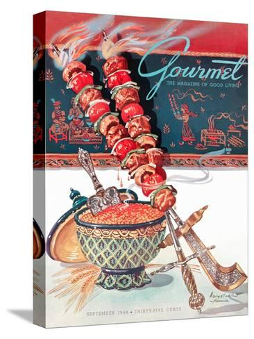 Gourmet Cover - September 1948-Henry Stahlhut-Stretched Canvas Print