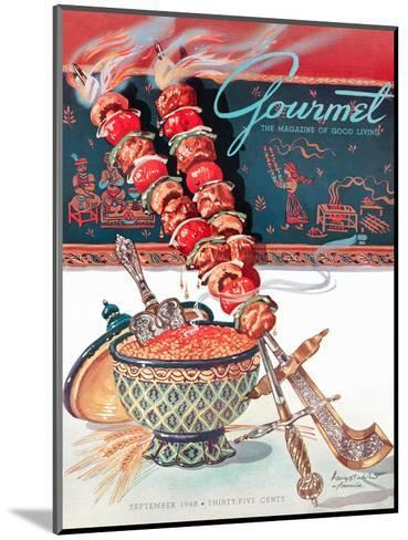 Gourmet Cover - September 1948-Henry Stahlhut-Mounted Premium Giclee Print