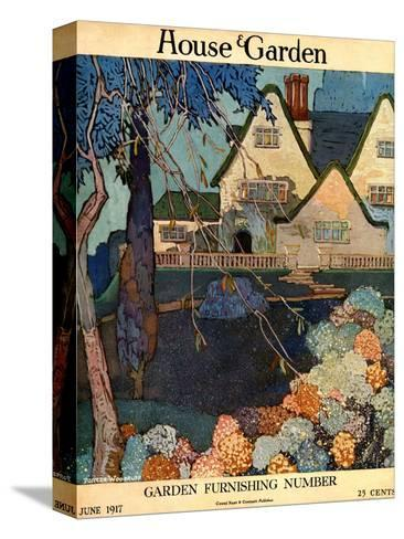 House & Garden Cover - June 1917-Porter Woodruff-Stretched Canvas Print