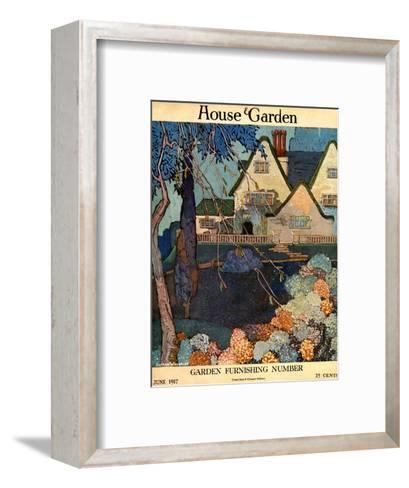House & Garden Cover - June 1917-Porter Woodruff-Framed Art Print