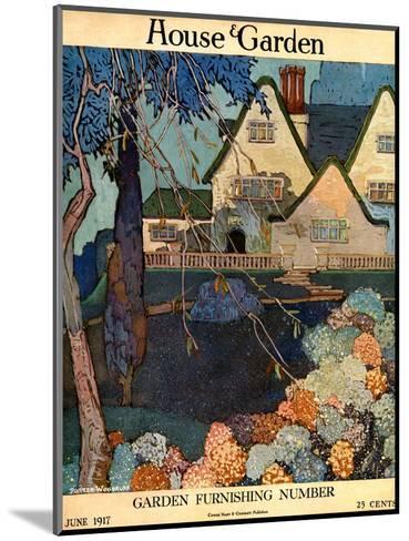 House & Garden Cover - June 1917-Porter Woodruff-Mounted Premium Giclee Print