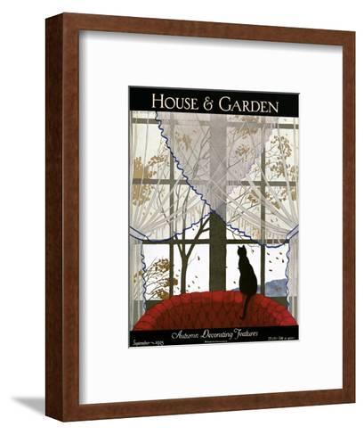 House & Garden Cover - September 1925-Andr? E. Marty-Framed Art Print