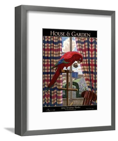 House & Garden Cover - May 1926-Pierre Brissaud-Framed Art Print
