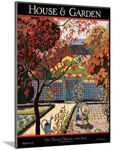 House & Garden Cover - October 1926-Pierre Brissaud-Mounted Premium Giclee Print