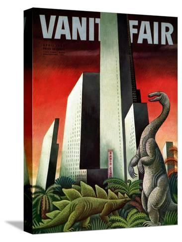 Vanity Fair Cover - April 1933-Miguel Covarrubias-Stretched Canvas Print