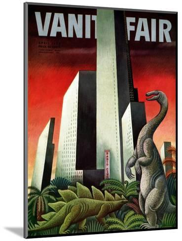 Vanity Fair Cover - April 1933-Miguel Covarrubias-Mounted Premium Giclee Print