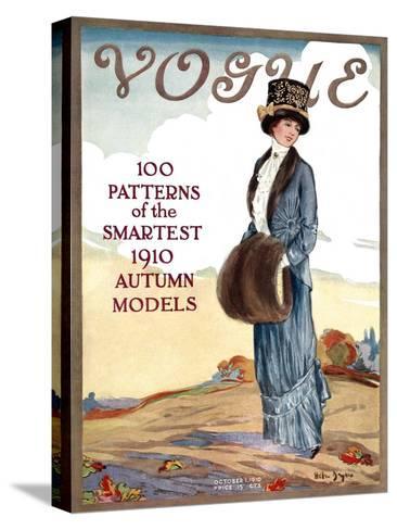 Vogue Cover - October 1910-Helen Dryden-Stretched Canvas Print