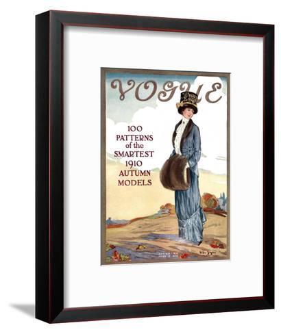 Vogue Cover - October 1910-Helen Dryden-Framed Art Print