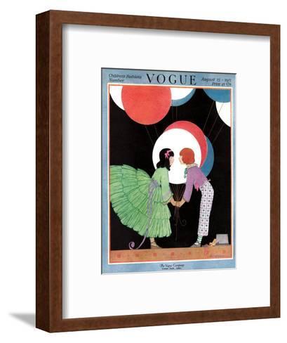 Vogue Cover - August 1917-Helen Dryden-Framed Art Print