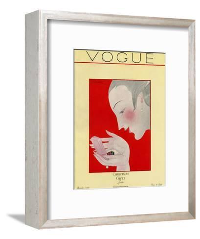Vogue Cover - December 1923-Georges Lepape-Framed Art Print