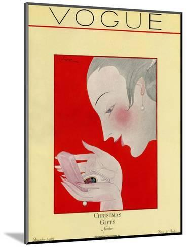 Vogue Cover - December 1923-Georges Lepape-Mounted Premium Giclee Print