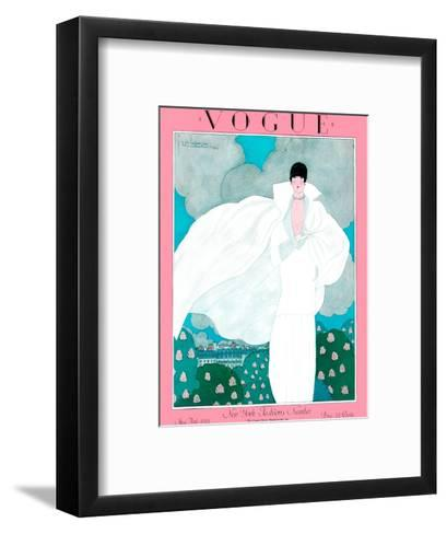 Vogue Cover - May 1925 - Spring Breeze-Georges Lepape-Framed Art Print