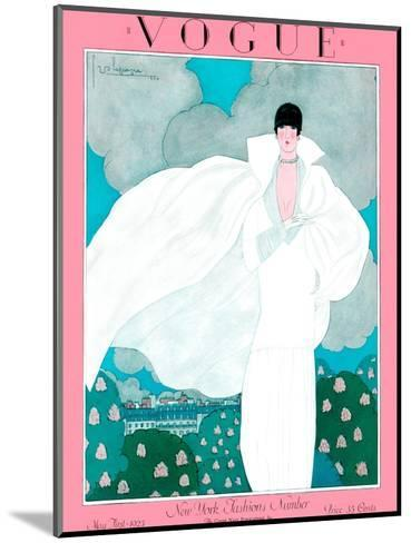 Vogue Cover - May 1925 - Spring Breeze-Georges Lepape-Mounted Premium Giclee Print