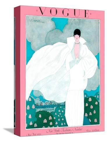 Vogue Cover - May 1925 - Spring Breeze-Georges Lepape-Stretched Canvas Print