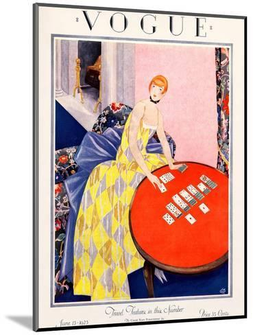 Vogue Cover - June 1925-George Wolfe Plank-Mounted Premium Giclee Print