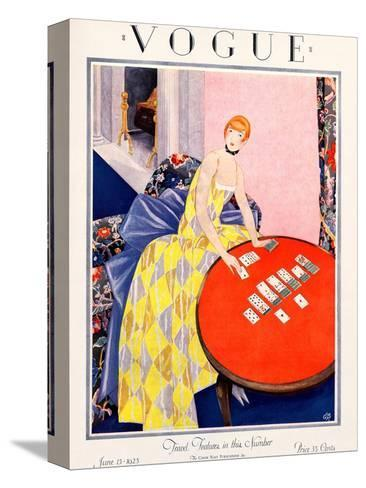 Vogue Cover - June 1925-George Wolfe Plank-Stretched Canvas Print