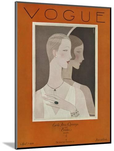 Vogue Cover - April 1926-Eduardo Garcia Benito-Mounted Premium Giclee Print