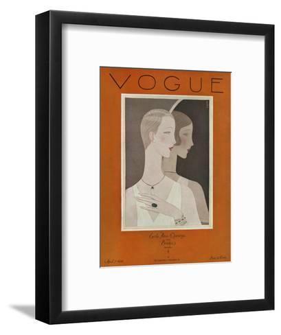 Vogue Cover - April 1926-Eduardo Garcia Benito-Framed Art Print