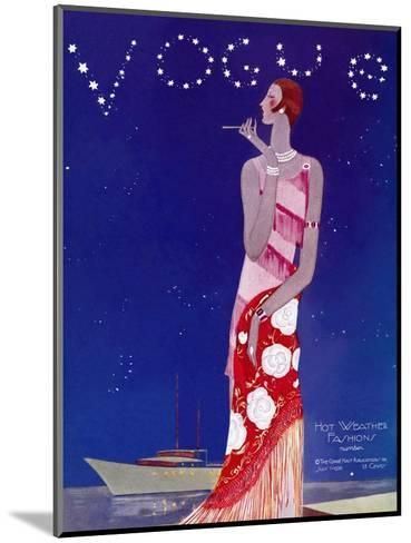 Vogue Cover - July 1926 - Flapper Nights-Eduardo Garcia Benito-Mounted Premium Giclee Print