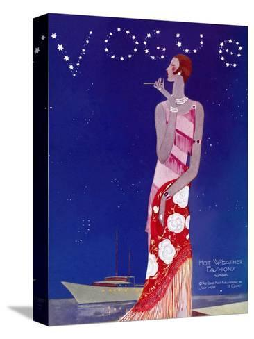 Vogue Cover - July 1926 - Flapper Nights-Eduardo Garcia Benito-Stretched Canvas Print