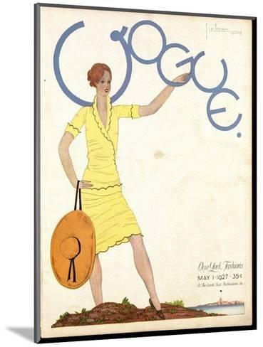 Vogue Cover - May 1927-Georges Lepape-Mounted Premium Giclee Print