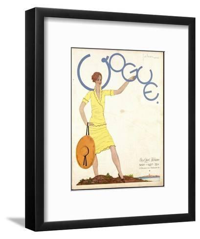 Vogue Cover - May 1927-Georges Lepape-Framed Art Print
