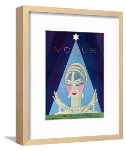 Vogue Cover - December 1927-Eduardo Garcia Benito-Framed Art Print