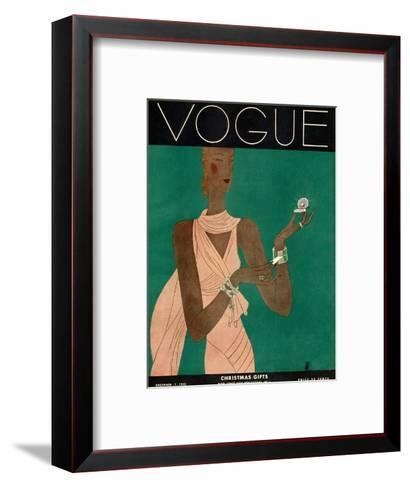 Vogue Cover - December 1931-Eduardo Garcia Benito-Framed Art Print