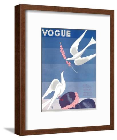 Vogue Cover - February 1933-Eduardo Garcia Benito-Framed Art Print