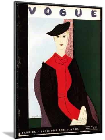 Vogue Cover - August 1934-R.S. Grafstrom-Mounted Premium Giclee Print