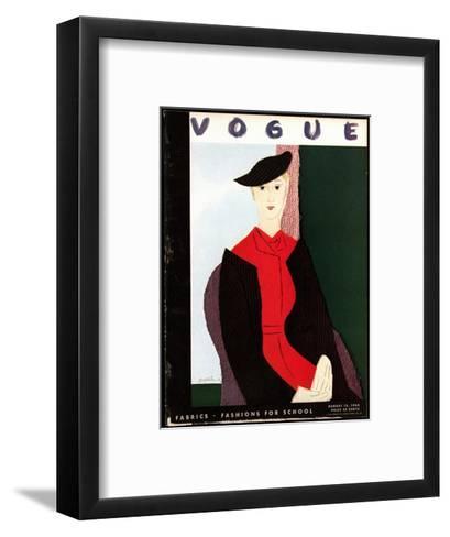 Vogue Cover - August 1934-R.S. Grafstrom-Framed Art Print