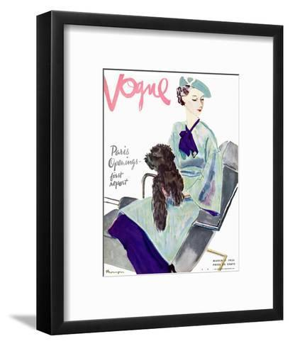 Vogue Cover - March 1935-Pierre Mourgue-Framed Art Print