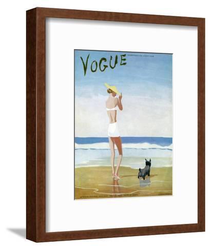 Vogue Cover - July 1937-Eduardo Garcia Benito-Framed Art Print