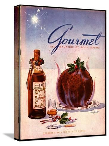 Gourmet Cover - December 1941-Henry Stahlhut-Stretched Canvas Print
