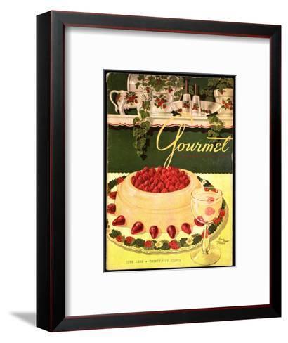 Gourmet Cover - June 1950-Henry Stahlhut-Framed Art Print